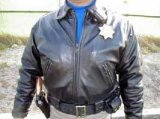 カリフォルニアハイウェイパトロール 白バイオフィサー用皮ジャケット