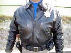 画像1: カリフォルニアハイウェイパトロール 白バイオフィサー用皮ジャケット