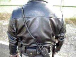 画像2: カリフォルニアハイウェイパトロール 白バイオフィサー用皮ジャケット
