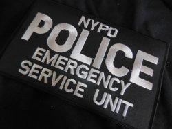 画像2: ニューヨーク市警察実物エマージェンシーサービスユニットベスト用 パッチ ベルクロ