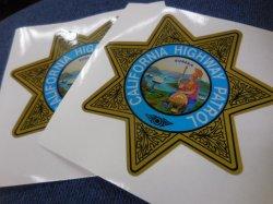 画像1: カリフォルニアハイウェイパトロール白バイ用デカールSET