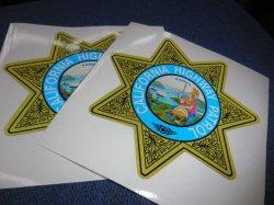 画像2: カリフォルニアハイウェイパトロール白バイ用デカールSET