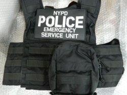 画像3: ニューヨーク市警察実物エマージェンシーサービスユニットベスト用 パッチ ベルクロ