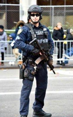 画像1: ニューヨーク市警察実物エマージェンシーサービスユニットベスト用 パッチ ベルクロ