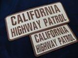 カリフォルニアハイウェイパトロールベスト用パッチ大小SET タンxブラウン