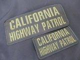 カリフォルニアハイウェイパトロールベスト用パッチ大小SET ブラックxグリーン