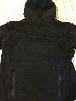 画像2: フード付きタクティカルフリースジャケット日本人XL ブラック