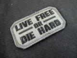 Live Free Die Hard シルバー ベルクロ仕様