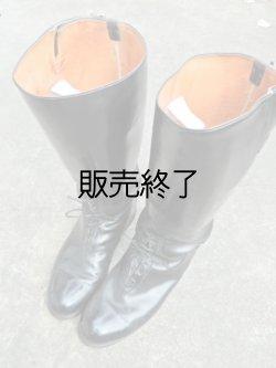 画像1: 白バイ用カスタムレザーパトロールブーツ10.5EE(27-28センチ)