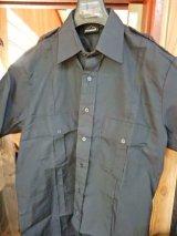 ダークネイビー(ロス市警同色)半袖ユニフォームシャツ日本人XL