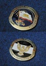 カリフォルニアハイウェイパトロール州知事警護課チャレンジコイン