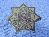 カリフォルニア州矯正局バッジパッチ サブデュード