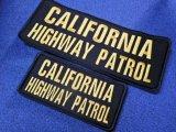 カリフォルニアハイウェイパトロールベスト用パッチ大小SET ブラック